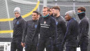 Jugadores de Inglaterra en un entrenamiento