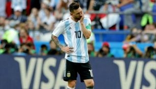Messi se lamenta después de partido