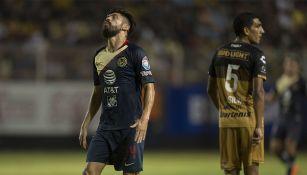 Oribe Peralta se lamenta en el duelo contra Dorados