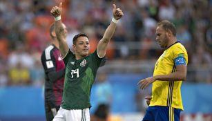 Chicharito agradece el esfuerzo de sus compañeros en partido del Tri