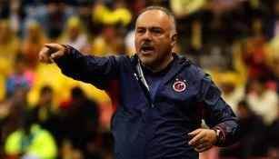 Memo Vázquez en un partido de Veracruz