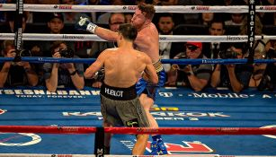 Canelo Álvarez en la primera pelea contra Golovkin
