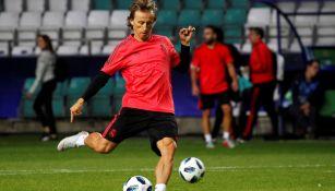 Modric, durante un entrenamiento con el Real Madrid