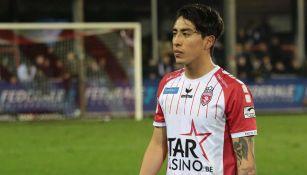 Omar Govea, durante un juego con el Royal Antwerp