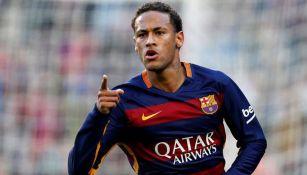 Neymar festeja gol con el Barcelona