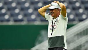 Ferretti, en un entrenamiento de la Selección Mexicana