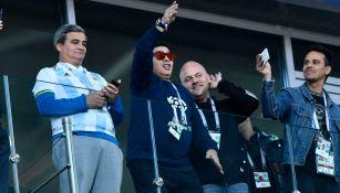 Maradona, en un partido de Argentina en Rusia 2018