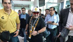 Maradona, a su llegada a Culiacán
