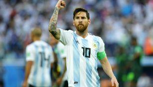 Messi durante el Mundial de Rusia