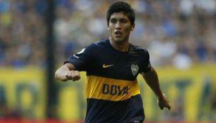 Nahuel Zárate en su paso por Boca Junior