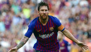 Messi festeja gol contra Huesca