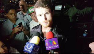 Canelo Álvarez tras su llegada a Las Vegas