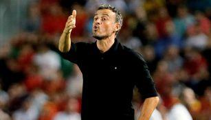 Luis Enrique lanza una indicación en el juego entre España y Croacia