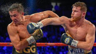 Canelo, durante la primera pelea ante GGG en Las Vegas