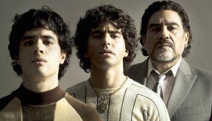 Esta es la primera imagen de los protagonista de la serie de Maradona