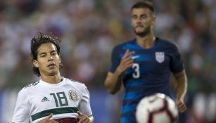 Diego Lainez se lamenta en el juego vs Estados Unidos