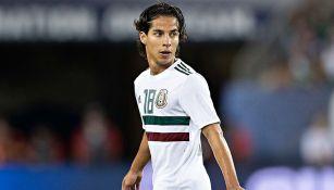 Diego Lainez en el partido contra Estados Unidos