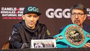 Golovkin en conferencia de prensa previo al duelo vs Canelo