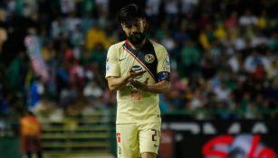 Peralta, durante un partido del América