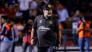 Diuego Maradona en un partido con Dorados