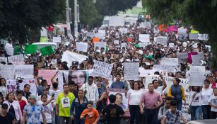 Pobladores de Ecatepec marcha en repudio a feminicidios