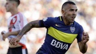 Tevez festeja tanto con Boca Juniors