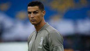 Cristiano Ronaldo previo a un partido de Juventus