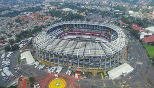 Vista aérea del Estadio Azteca