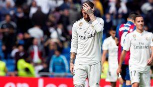 Sergio Ramos se lamenta tras derrota contra Levante