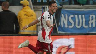 Gonzalo Martínez celebra el gol del triunfo de River Plate