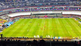 Cancha del Estadio Azteca previo al duelo América vs Toluca