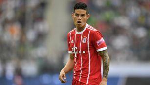 James en un partido con el Bayern