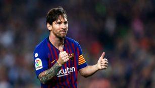 Messi en parido con el Barcelona