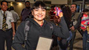 Alexa Moreno tras su llegada a la Ciudad de México