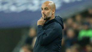 Pep Guardiola durante un partido con el Manchester City