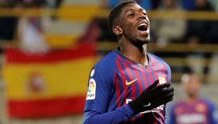 Ousmane Dembélé, durante un juego con el Barcelona