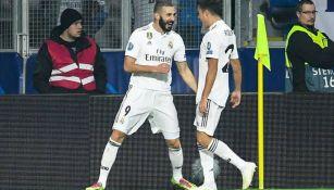 Karim Benzema celebra anotación con Real Madrid