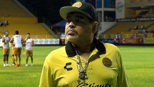 Maradona, en entrenamiento con Dorados