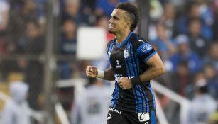 Sanvezzo celebra gol en juego contra Cruz Azul