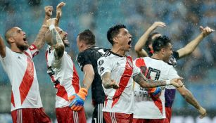 Los jugadores de River celebran el pase a la Final de la Libertadores