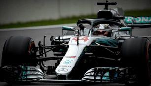 Lewis Hamilton durante el GP de Brasil