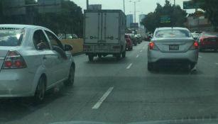 Automóviles en el tránsito de la CDMX