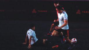 Dos de los equipos juegan un partido de la Tango League