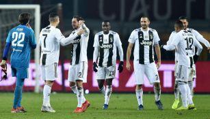 Juventus celebra una victoria frente al Torino