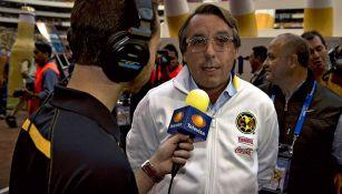 Azcárraga Jean, durante una entrevista