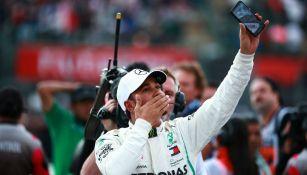 Lewis Hamilton durante el Gran Premio de México
