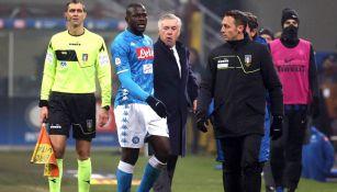 Koulibaly, durante encuentro entre Napolés e Inter de Milan