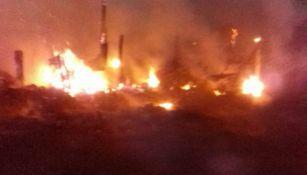 Fuego, invade el Bordo de Xochiaca