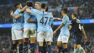 Manchester City festeja gol contra Rotherham