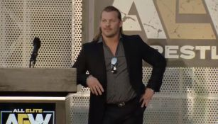 Chris Jericho en la conferencia de AEW